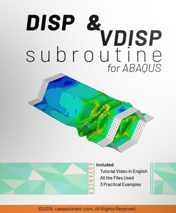 DISP AND VDISP SUBROUTINES in ABAQUS