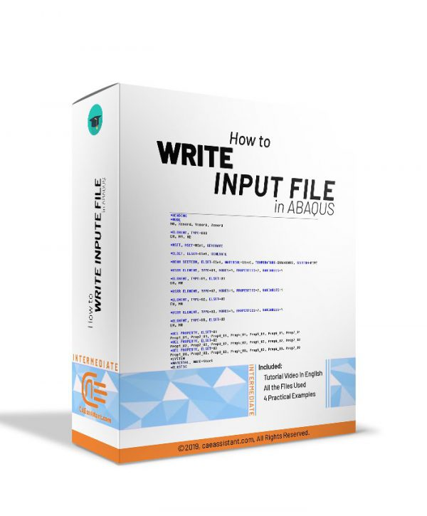 How to write input file in ABAQUS
