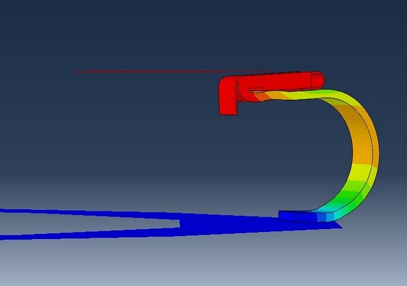 Pressure penetration analysis of an air duct kiss seal