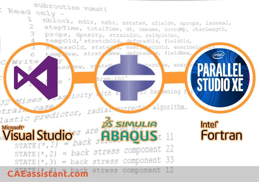 Visual Studio+Abaqus+Fortran