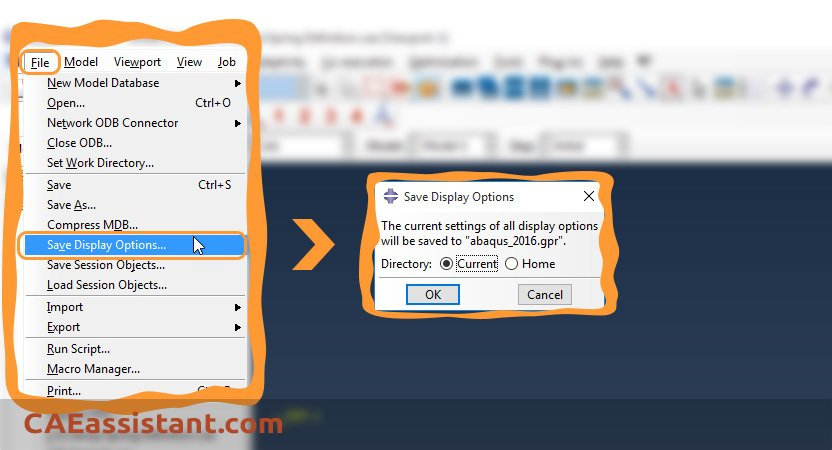 Save Display Options