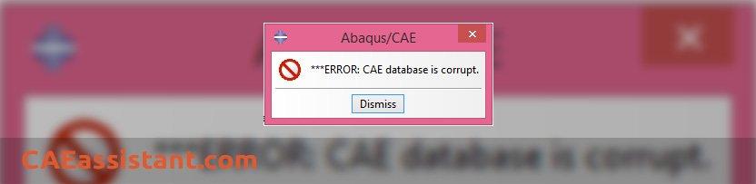 Cae_file Corrupted Error Message