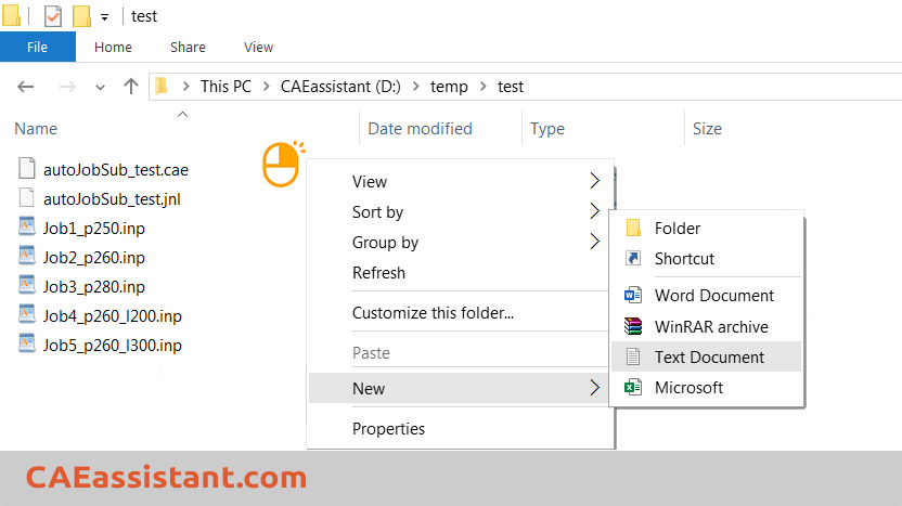Create txt file