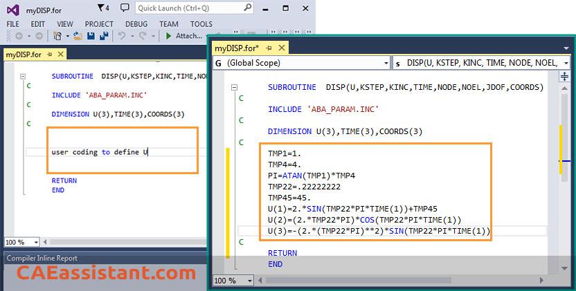 Open & Edit myDISP.for