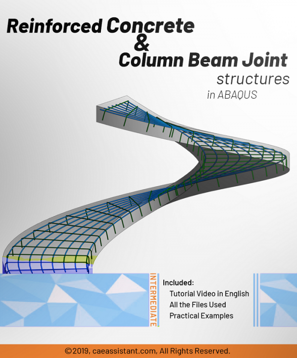 Concrete reinforcement and column beam joint structures in ABAQUS-Pack