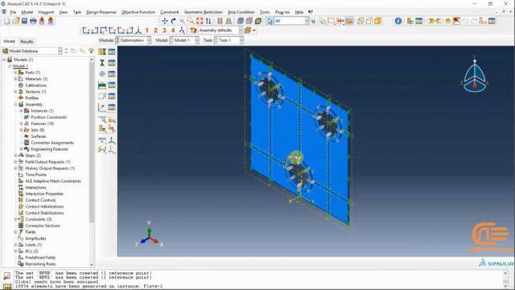 optimization analysis in ABAQUS-workshop2