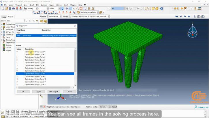 optimization analysis in ABAQUS-workshop3