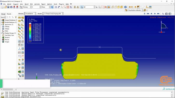Simulation of forming in ABAQUS-2