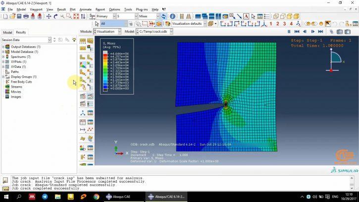 Simulation of Fracture in Abaqus-4