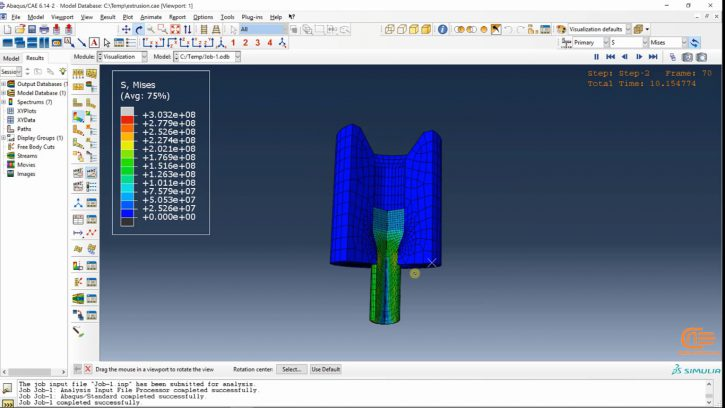 Simulation of forming in ABAQUS-5