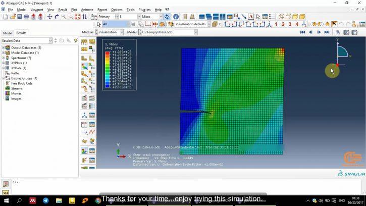 Simulation of Fracture in Abaqus-5
