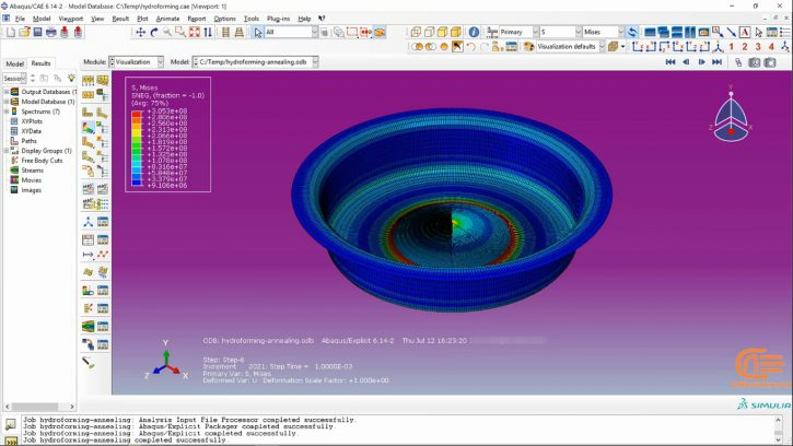 Simulation of forming in ABAQUS-6