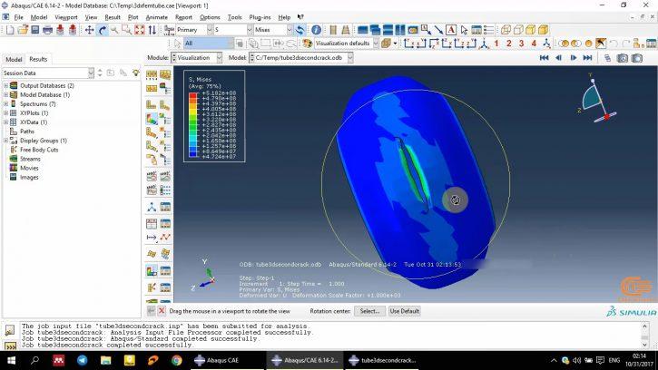 Simulation of Fracture in Abaqus-6