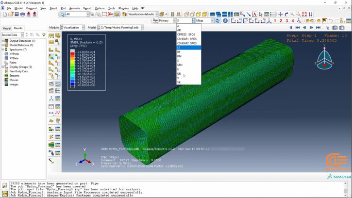 Simulation of forming in ABAQUS-7