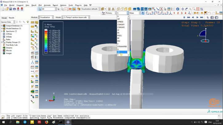 Simulation of forming in ABAQUS-8