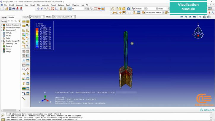Simulation of forming in ABAQUS-9